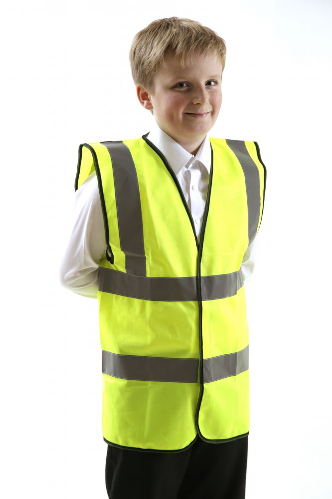 Hi-Vis Children's Waistcoat, Medium, Hi-Vis & Safety