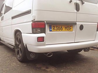 VW T4 Single System with Catalytic converter rear exit.