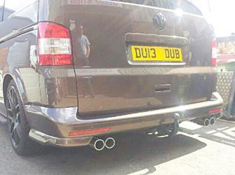 VW T5 Transporter Twin Out The Rear Cat Back System